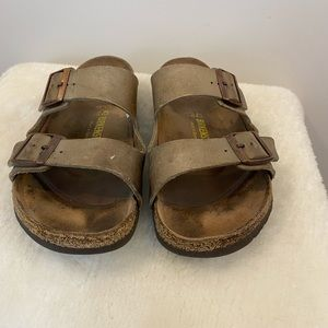Birkenstock Arizona Brown Nubuck Leather Sandals